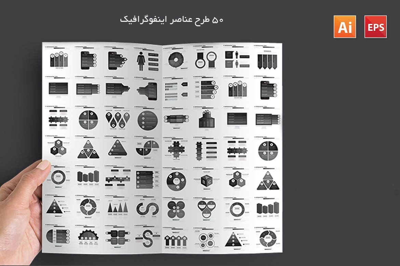 50 طرح عناصر اینفوگرافیک