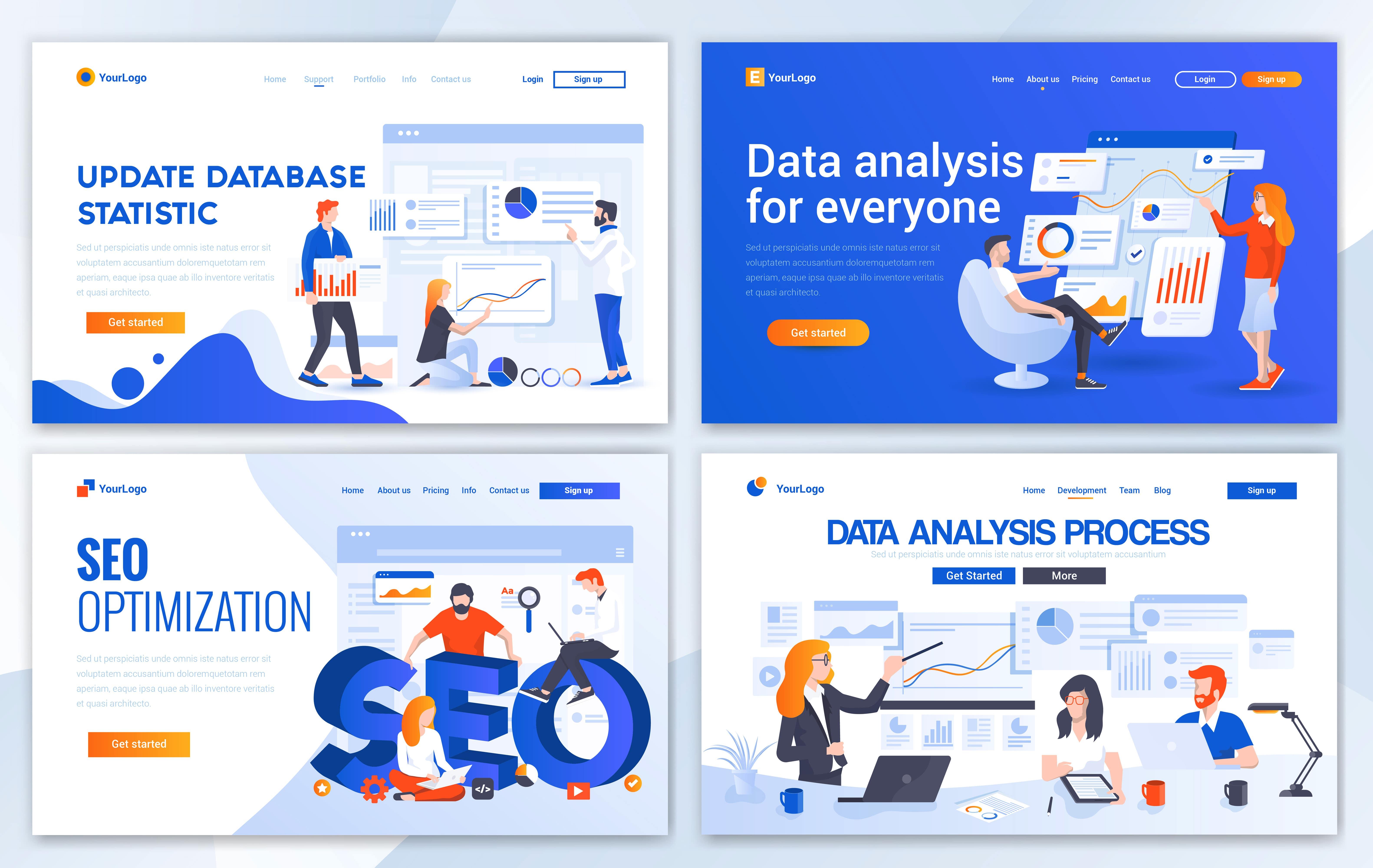 مجموعه الگوهای طراحی وب (تحلیل داده ها)