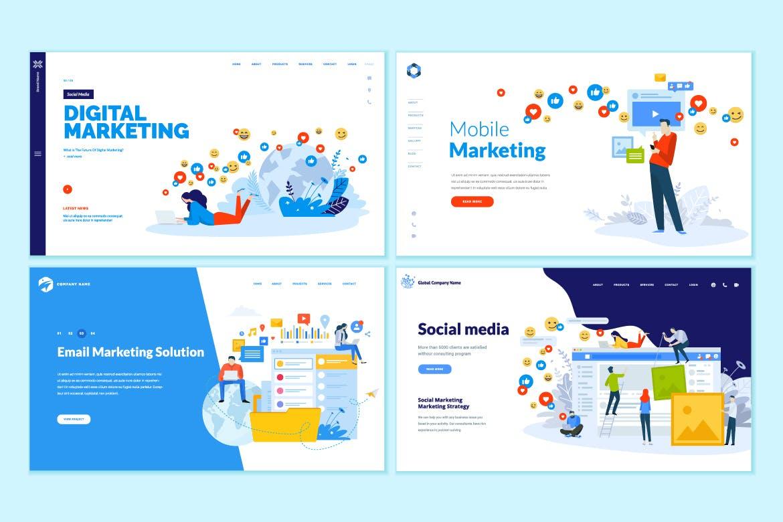 مجموعه الگوهای طراحی وب (دیجیتال مارکتینگ)