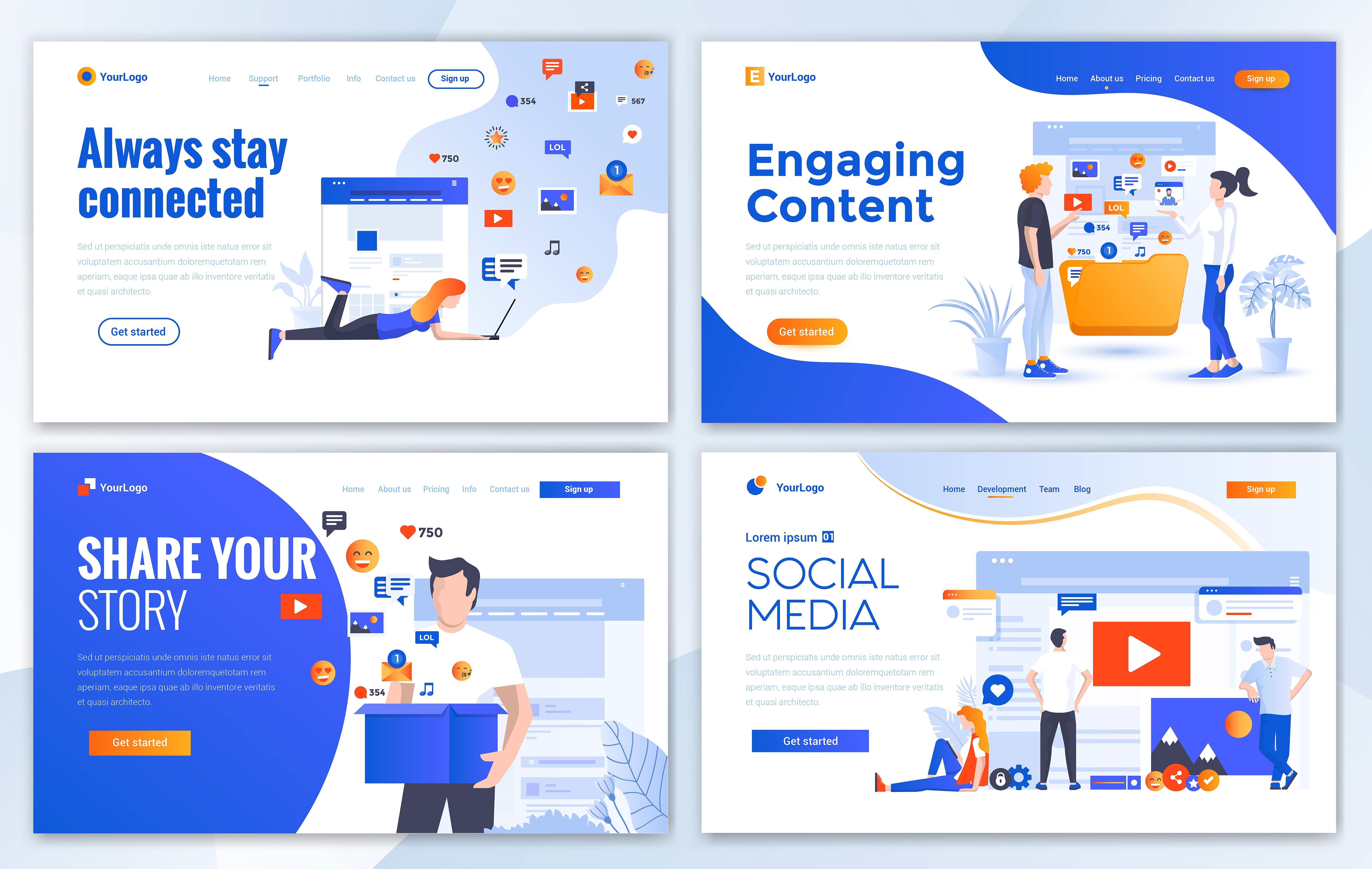 مجموعه الگوهای طراحی وب (شبکه های اجتماعی)