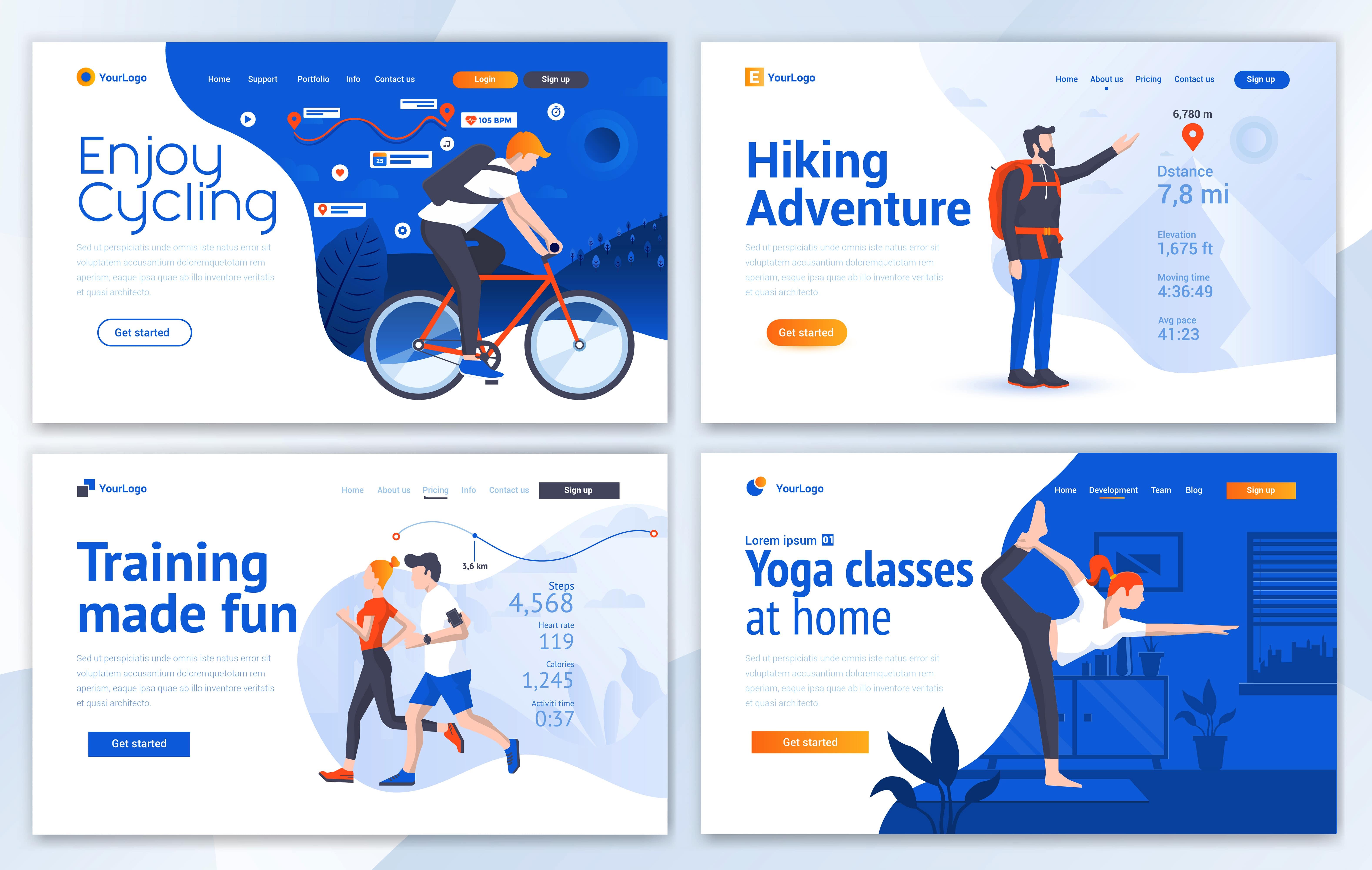 مجموعه الگوهای طراحی وب (ورزش و تفریح)